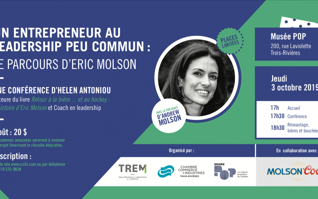 Le parcours d'Eric Molson : Conférence d'Helen Antoniou