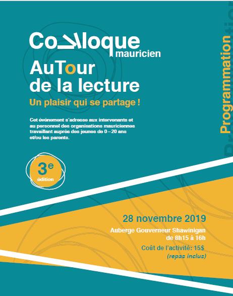 La programmation du 3ième Colloque mauricien « AuTour de la lecture » est disponible!