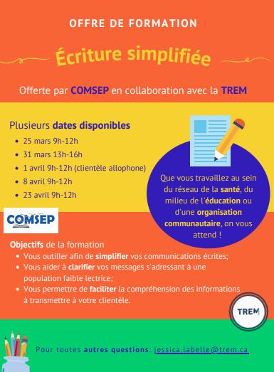 Formation – écriture simplifiée